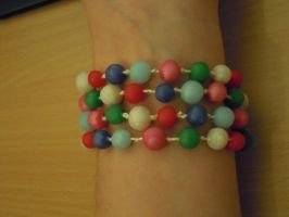 Cheerful candy bracelet by Thyme-Sprite