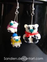 Polar Bear Earrings by Sandien