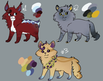 Adoptables [Set A] - 3/3 OPEN by Quailheart