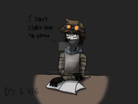 Toby don't know what to draw :T by YourDigitalAquarium