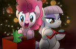 Pinkie and Maud's Christmas by drawponies