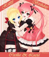 Cecilia and Lucia Birthday submission by FluffyFluffie