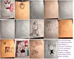 Sketchbook pages by xoes