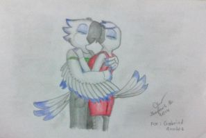 Guillaume and Roxxy Kiss by SammfeatBlueheart