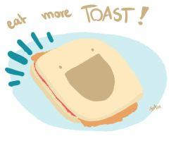 Eat More Toast by nemo-animations