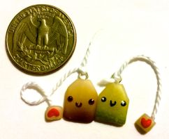 Kawaii tea bags - Polymer clay by Ysab3lla