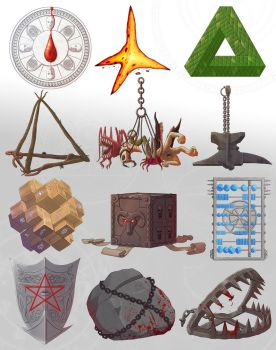 Unholy Symbols of the Dark Gods by Brett-Neufeld
