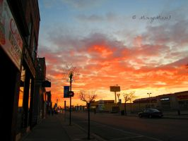 Firey Sunrise. by Michies-Photographyy