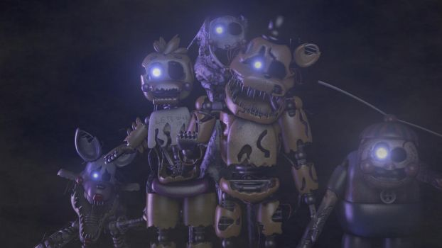 (sfm Fnaf) The Reapers from final night 3 by Optimustrap2017