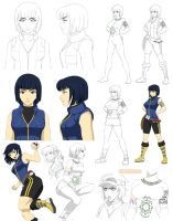 Character design, Kate (commission) by Precia-T