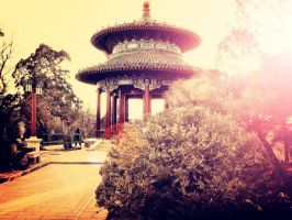 The afterglow of the JiFang Pavilion by sunny2011bj