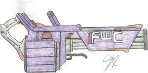 Future War Cult Gatling Gun by Chigiri16