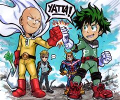 One punchman x My Hero Academia by Djiguito
