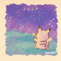 Monthly Pikachu - July by Paleona