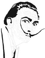 Salvador-dali new Pen work 2 by daylover1313