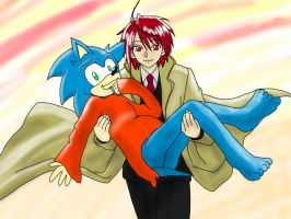 The Odd Couple - Nagi x Sonic by The-Thousand-Master