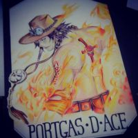 In memory..Portgas D Ace by aslah92