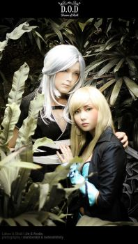 DOT Cosplay : Lahoo and Shall by BlackMageAlodia