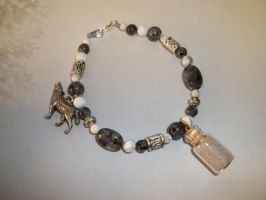 Arctic Wolf Spirit Totem Charm Bracelet -SOLD- by DaybreaksDawn