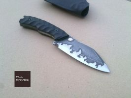 Cathal - BOHLER N690 Stainless Steel - Cold Flames by MLLKnives