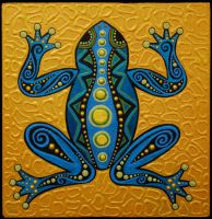 Blue Frog by acwaltz