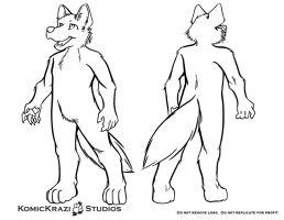 Plantigrade Canine - Free Character template by temperance