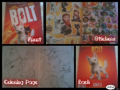 BOLT Coloring and Sticker Book by AshbreezeTheKitty