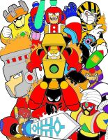 Fire type robot masters coloured by MegaPhantaze