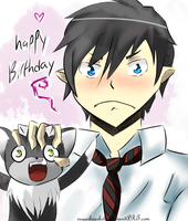 happy bday from rin and blacky by sugarbearkitty