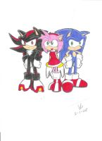 Shadow Amy Sonic by mew-chao