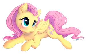 Mystery Mini Fluttershy Alt by C-Puff