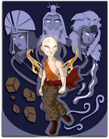Commission:  Avatar Aang Shadowbox Mock-up by The-Paper-Pony