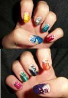 Gummy Bear nails by QueenAliceOfAwesome