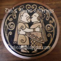 Lovers plaque by DebsDen