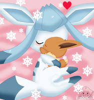 Minti the shiny  glaceon by jirachicute28