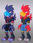 Bird Character Colored by MujakiKid