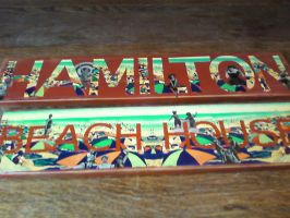 Decoupaged Sign in Beach Theme by LexC7