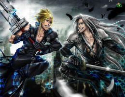 Epic Battle (Final Fantasy VII) by Jgass