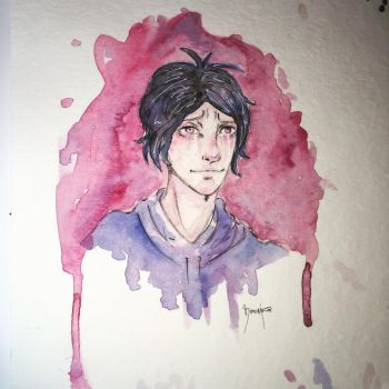 Watercolor practice after 3 months  by Bimori