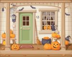 Halloween porch by Naddiya