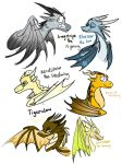 warrior cats a wings of fire dragons by calistayeoh123