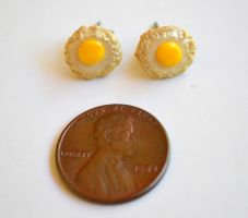 Eggs Over Easy Stud Earrings by yobanda