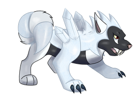 Ice/ Dark type - Huskice by DarkCharmander