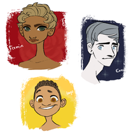 webcomic characters!! by candydoodlz