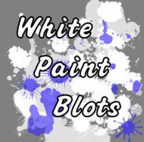 White Paint Blots picture tube by raikoufighter