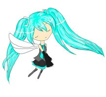 flying miku colour by mcdmouse