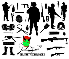 FREE Military Vector Pack Revised FREE by MaxDaMonkey
