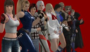 my favorite Female fighting game characters by Dante-564
