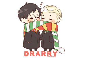Drarry - Scarf sharing by Cremebunny