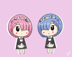 lil rem and ram by vivienegg